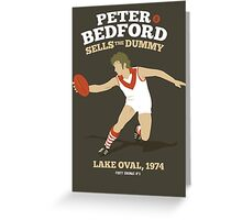 Peter Bedford, South Melbourne Greeting Card
