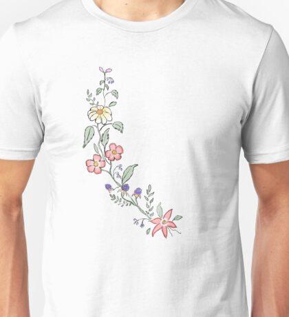 floral, flowers, Unisex T-Shirt