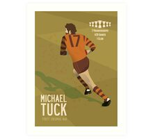 Michael Tuck, Hawthorn Clean As A Whistle version Art Print