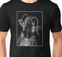 Acrididae White Illustration Unisex T-Shirt