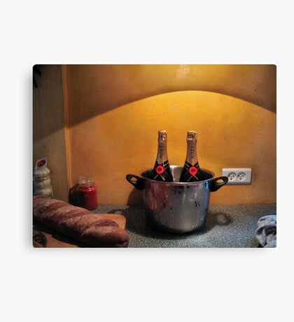 Still Life with Bread Canvas Print