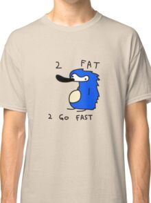 Sanic the Hegehog - 2 FAT 2 GO FAST Classic T-Shirt