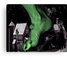 Villagers 0 Ogres 1 Canvas Print