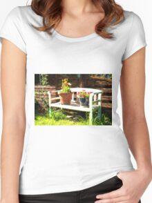 Garden bench Women's Fitted Scoop T-Shirt