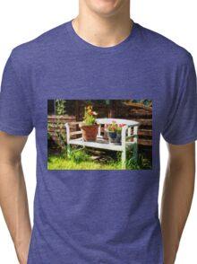 Garden bench Tri-blend T-Shirt