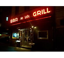 New York - Bar Hi Life Photographic Print