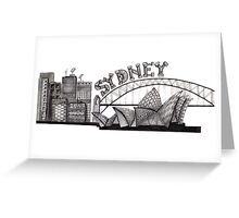 Sydney in tangles tshirts and cards Greeting Card
