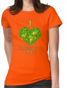 I love St.Patrick's Day Redbubble T shirt Womens Fitted T-Shirt