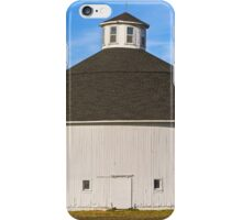 White Round Barn iPhone Case/Skin