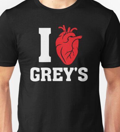 I Love Greys Unisex T-Shirt