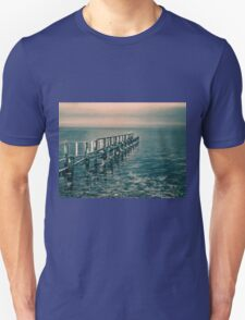 Beautiful seascape of a wooden footbridge T-Shirt