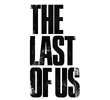 The Last of Us (title) (black) Photographic Print