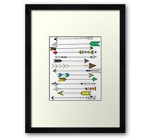 Feather Head Arrows Framed Print