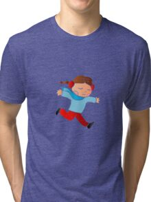 A girl skating on ice Tri-blend T-Shirt