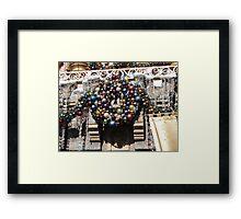 Disneyland Christmas Time- Castle Wreath Framed Print