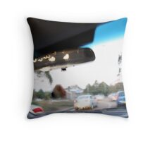 Bored in traffic Throw Pillow