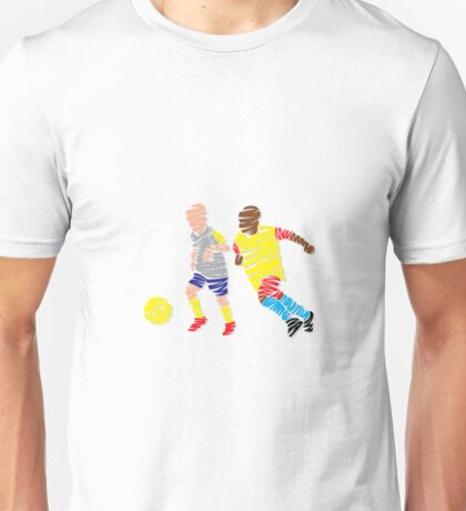 Abstract Soccer player Unisex T-Shirt