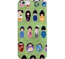 Creative Kokeshi & Kimono Designs iPhone Case/Skin