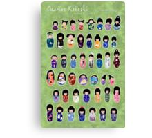 Creative Kokeshi & Kimono Designs Canvas Print