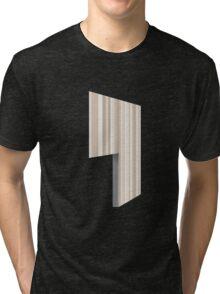 Glitch Homes Wallpaper creamy stripes left divide Tri-blend T-Shirt