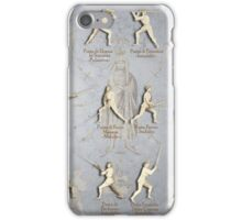 "Fiore dei Liberi Longsword Positions ""Getty"" iPhone Case/Skin"
