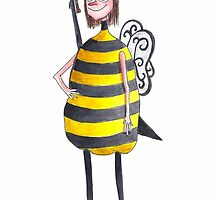 Miss Iona As A Killer Bee by Aude Lising |  The French Fury