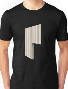 Glitch Homes Wallpaper creamy stripes right divide Unisex T-Shirt