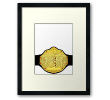 World Heavyweight Champion Framed Print