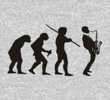 evolution of jazz t-shirt Kids Clothes