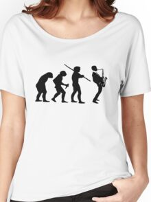 evolution of jazz t-shirt Women's Relaxed Fit T-Shirt