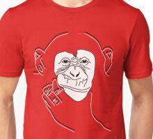 Chimpanzee T-shirt the thinker Unisex T-Shirt