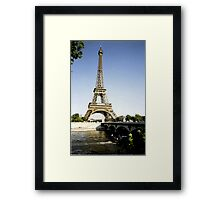 eiffel tower in paint Framed Print