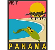 Visit PANAMA Travel Poster Photographic Print
