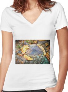 Shelf fungus Women's Fitted V-Neck T-Shirt
