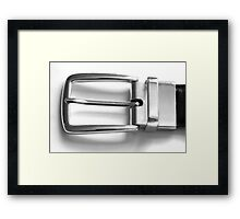 Belt Buckle Framed Print