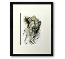 Fancy Hat - Gold Framed Print