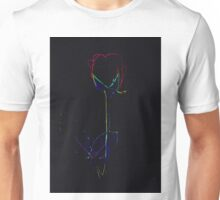 Neon Abstract Red Rose Design Unisex T-Shirt