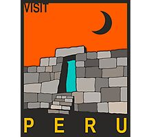 Visit PERU Travel Poster Photographic Print