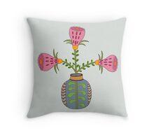 flower pot illustration 1 Throw Pillow