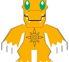 Agumon! by DiscordedSYN555
