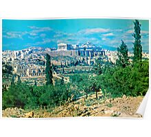 Athenian Acropolis from Philopappou Hill, 1960 Poster