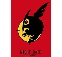 Night Raid + Caption Photographic Print