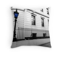 phone box and rails Throw Pillow