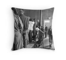 """Give us a look!"". Throw Pillow"