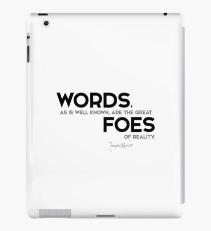 words: great foes of reality - joseph conrad iPad Case/Skin