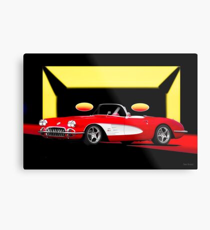 1959 Corvette 'Retro' Roadster Metal Print