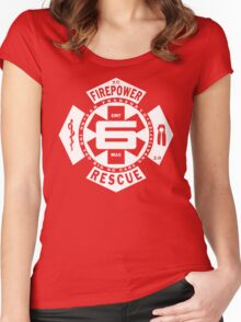 Big Fire #6 Women's Fitted Scoop T-Shirt