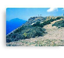 Climbing Cape Sounion, Attica, Greece Canvas Print