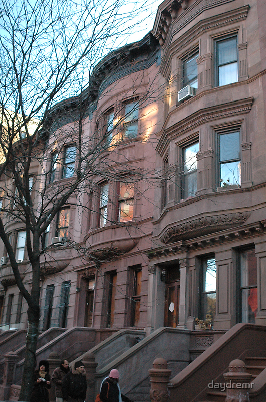 Brownstones in New York City by daydremr