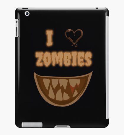 I Heart Zombies (black) iPad Case/Skin